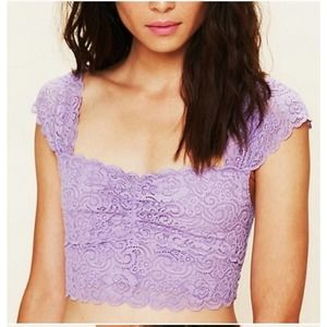 Free People Scallop Edge Lace Crop Top